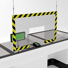Защитный подвесной экран для кассы 1000х500
