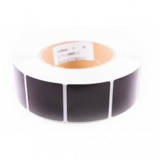 Этикетка РЧ 40х40 мм LUKATRON, Чёрная, 2000шт в рулоне