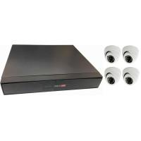 Готовый комплект системы видеонаблюдения для небольшого помещения(4 камеры - до 40 м²)
