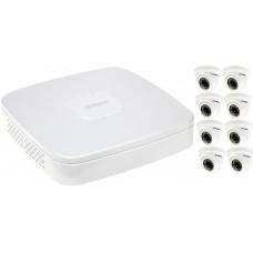Набор системы видеонаблюдения для среднего магазина (8 камер - до 80 м²)