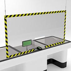 Защитный подвесной экран 1500х1000