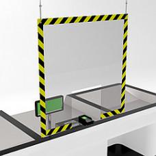 Защитный подвесной экран для кассы 1000х1000